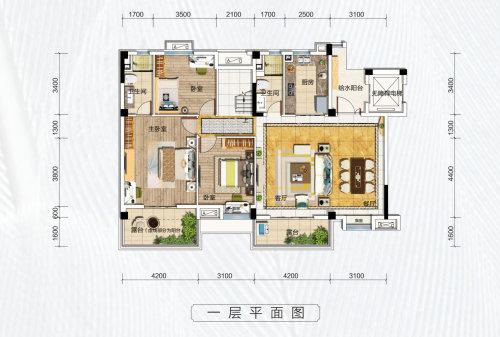 碧桂园凤凰城天峦D户型-4室2厅户型图