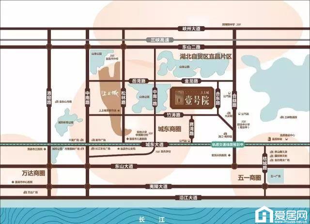 上上城·壹号院区位图