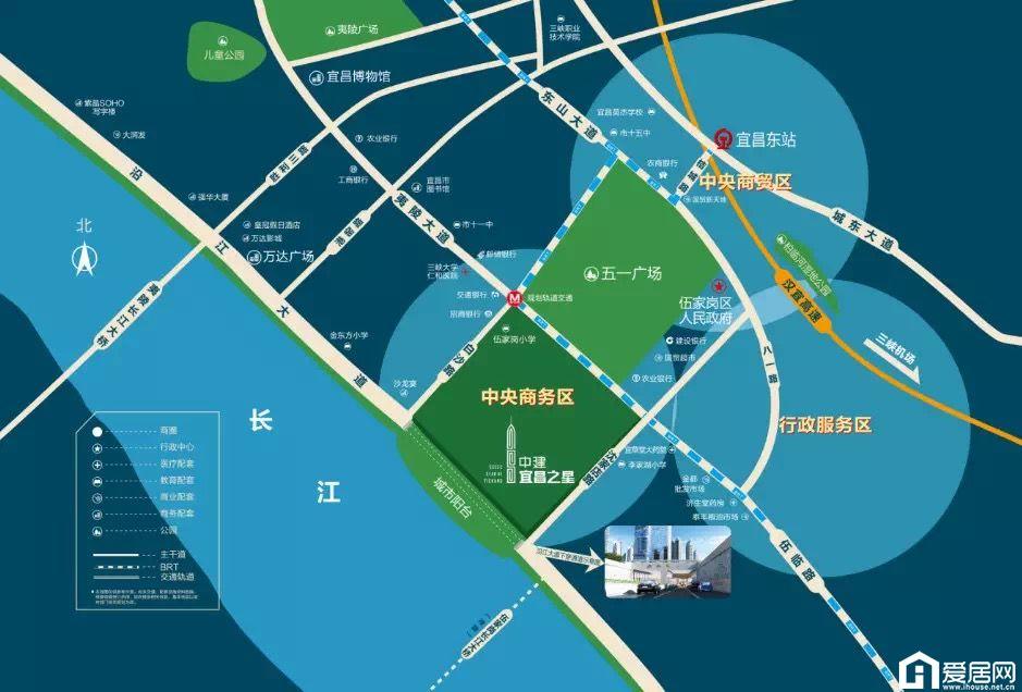 中建·宜昌之星区位图