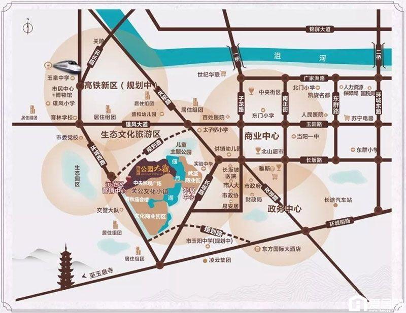 公园大观区位图