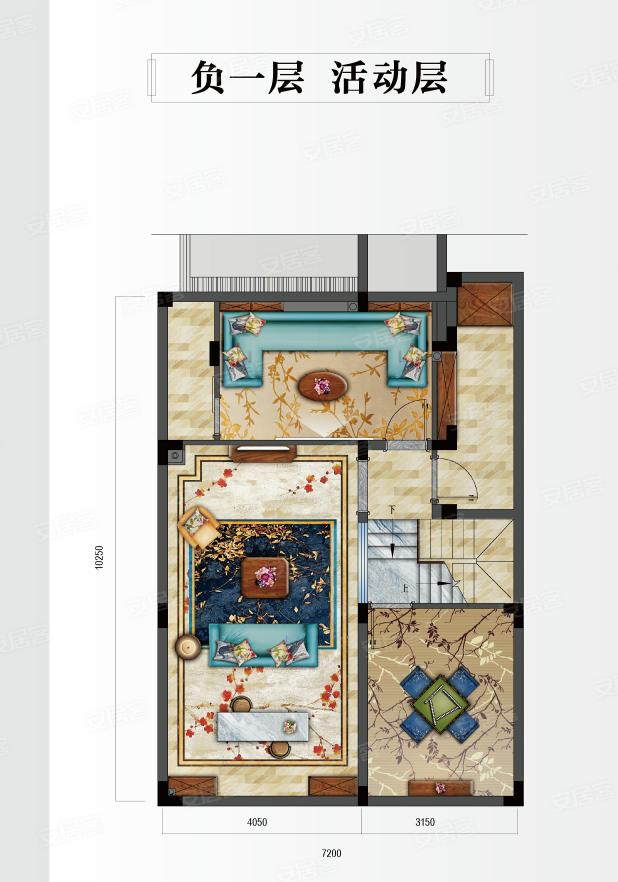 新鸿·国悦府F户型-4室2厅户型图