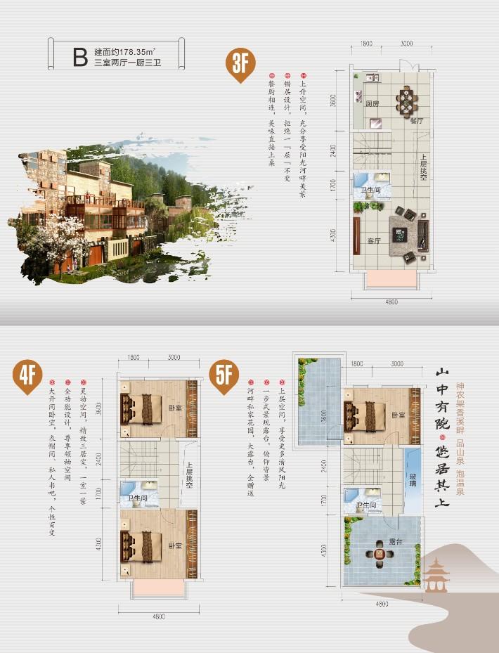 双泉寨双泉寨B1-1户型-3室2厅户型图