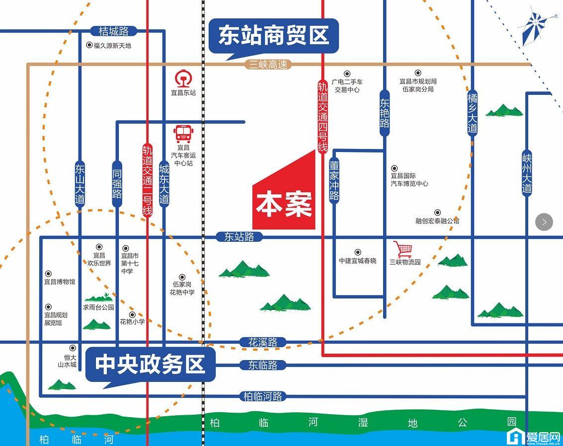 东景国际区位图
