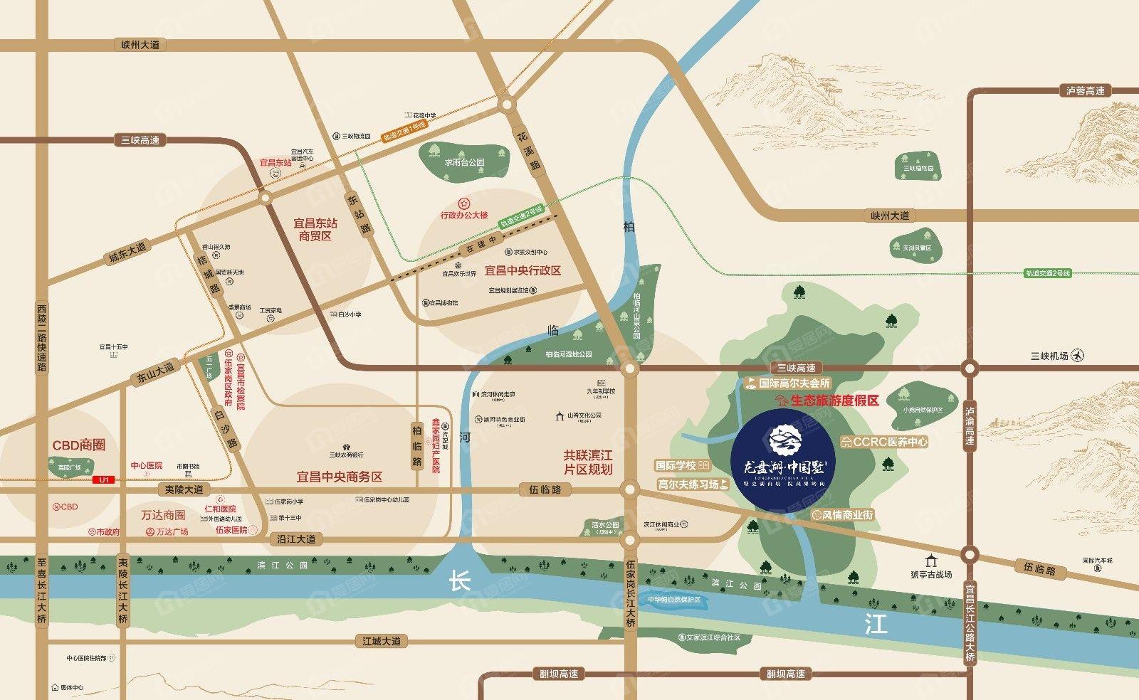 龙盘湖·中国墅区位图
