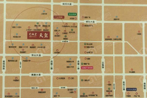 CAZ天阁区位图
