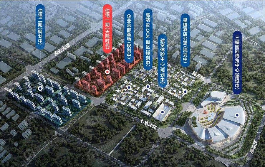 卓尔·宜昌航空城区位图